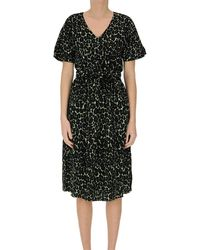 Bellerose Animal Print Viscose Dress - Black