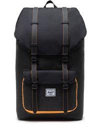 Herschel Supply Co. Little America Backpack - Black Crosshatch/black/blazing Orange