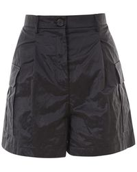 Erika Cavallini Semi Couture Satin Shorts - Black