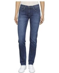 Tommy Hilfiger - Tommy Jeans Mid Rise 911 Horizon Dark Blue Stretch Jeans - Lyst