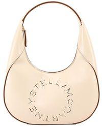 Stella McCartney Vegan Leather Small Hobo - Natural