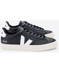 Veja Campo Leather | Black White | (men)