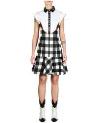 Stella Jean Checked Dress - White