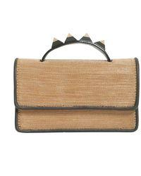 Salar Women's F17zodrgol Gold Metal Handbag - Metallic