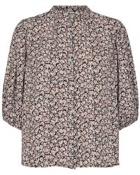 co'couture Cocouture Cecily Flower Shirt - Black