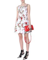 McQ Dress With Poppy Field Print - White
