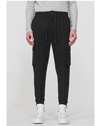 Antony Morato Pinstripe Combat Trouser Black Colour: Black,