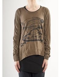 Rundholz Pre-order Aw21 3370502 Top Walnut Print - Brown