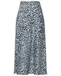 Rebecca Minkoff Davis Animal Print Skirt - Black