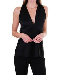 Polo Ralph Lauren Cludet Ls Open Back Shirt - Black