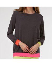 Wyse London Sylvie Neon Sweater - Brown