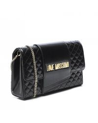 Moschino Love Quilted Crossbody Bag - Black