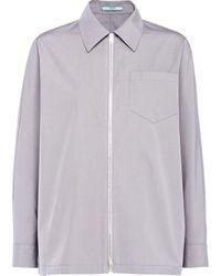Prada Women's P479es2111ucxf0d65 Grey Cotton Jacket