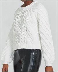 J Brand Zuri Fisherman Sweater - White