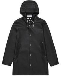 Stutterheim Stockholm Black Raincoat By