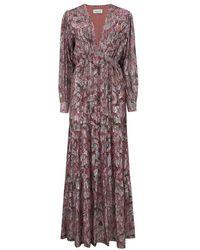 Berenice Rym Floral Dress - Midnight - Pink