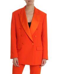 MSGM Women's 2641mdg1819513710 Red Polyester Blazer