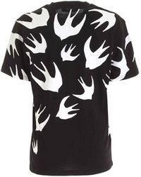 McQ Velvet Swallow Tshirt - Black