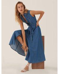 Marella Denim Falesia Shirt Dress - Blue