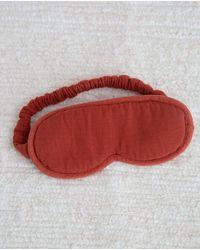 Beaumont Organic Neves Organic Cotton Eyemask In Cinnamon - Red