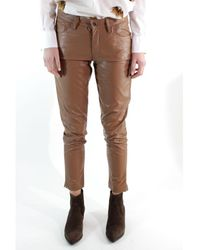 ..,merci Goods - Leather Pant.ecopelle P259i - Brown