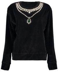 Giambattista Valli Crewneck Sweatshirt - Black