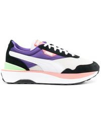 PUMA - Women's 37507204 White Leather Sneakers - Lyst