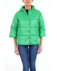be Blumarine Short Green Down Jacket