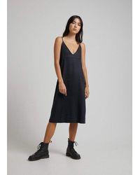 Afends Madda Hemp Slip Dress - Black