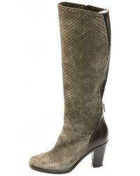 Le Pepe Women's B123750 Snake Knee High Beige Boot - Multicolour