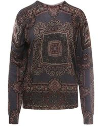 Etro Silk And Cachemere Sweater - Gray