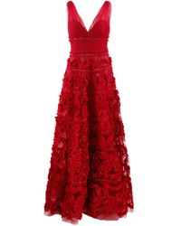 Marchesa notte Ball Gown - Red