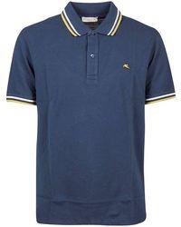 Etro Men's 1y80592490201 Blue Cotton Polo Shirt