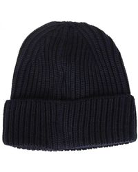 C P Company - Beanie In Navy Blue - Lyst