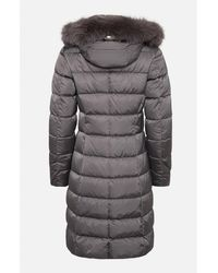 Herno Detachable Fur Hooded Padded Coat Grey - Gray