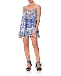 Camilla Floral Playsuit - Blue