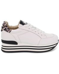 Janet & Janet Women's Jspo45775 White Leather Sneakers