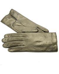 Gala Ladies Leather Gloves W Cash Lining - Metallic