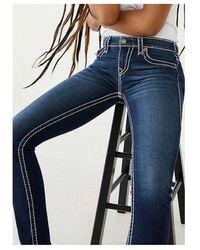 True Religion Halle Super T Jeans With Flap Pocket Colour: Indigo, Siz - Blue