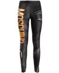 Moschino Biker To Leggings - Black