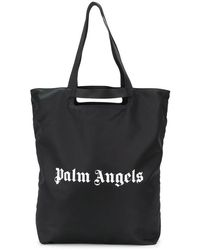 Palm Angels Men's Pmna031e20fab0011001 Black Polyamide Tote