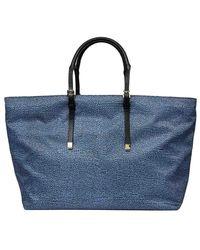 Borbonese Shopping Bag Extra Large - Blue