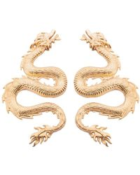 Natia X Lako Small Dragon Earrings - Metallic