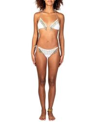 Oséree Pearl-embellished Two-piece Swimsuit - White
