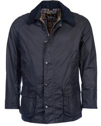 Barbour Ashby Navy Wax Jacket - Blue