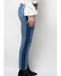 2nd Day - Stevie Striped Trouser In Mid Blue - Lyst