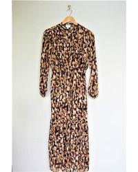 Vero Moda Animal Print Maxi Dress - Multicolour