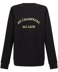 BRUNETTE the Label No Champagne No Gain Sweatshirt - Black