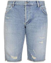 Balmain Jacquard Shorts - Blue