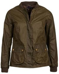 Barbour Womens Lightweight Norfolk Waxed Cotton Jacket Archive Olive - Green